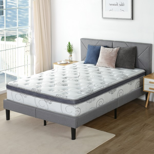 Olee Sleep 12 Inch Pegasus Euro Box Top Spring Mattress